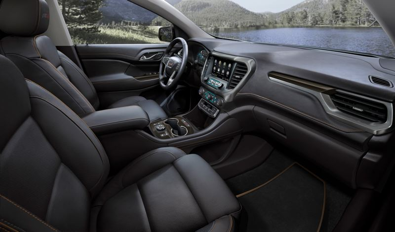 COURTESY GMC - The 2020 GMC Acadia is configurable for five, six, or seven passengers, and the interior has been redesigned to accommodate a new 8-inch infotainment system.
