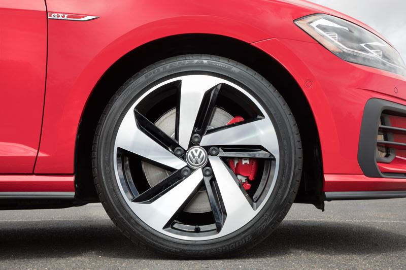 VOLKSWAGEN NORTH AMERICA - The GTI features a more powerful engine, a stiffer adjustable suspension and bigger brakes than the base Golf.