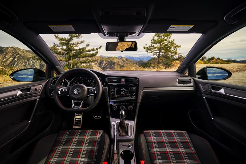VOLKSWAGEN NORTH AMERICA - The interior of the Rabbit Edition of the GTI sports plaid upholstery, just like the early Rabbits, which is available in other versions, too.
