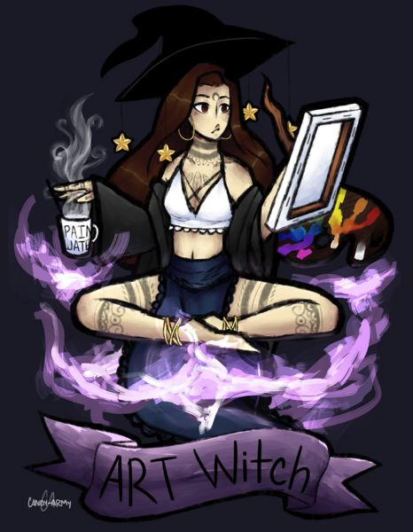 COURTESY OF THE ARTIST - Lizzy Ingalls created 'Art Witch' after her friend suggested they create pictures of each other.