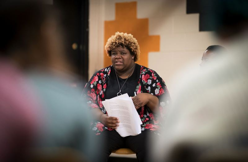 TRIBUNE FILE PHOTO  - Patrice Mays, interim executive director of Trillium Charter School, spoke during a recent school board meeting.