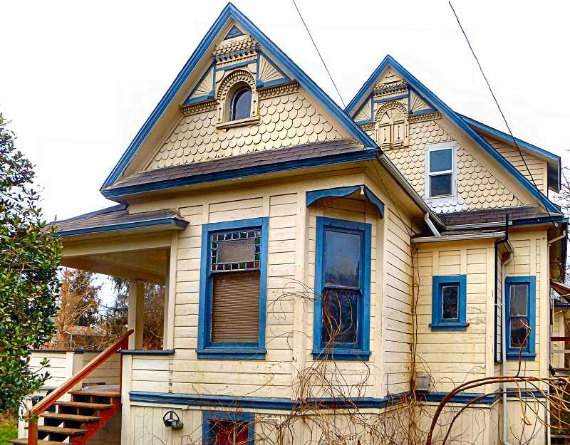 EILEEN G. FITZSIMONS - This 1890 Queen Anne style house at 5803 S.E. Woodstock Boulevard is confirmed as the oldest surviving house in that neighborhood.