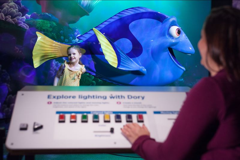 COURTESY: OMSI - Kids can get their pictures next to Dory from 'Finding Nemo.'