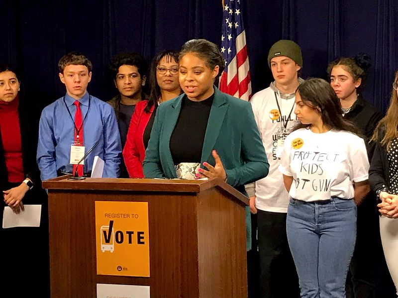 COUTESY PHOTO: BUS PROJECT - Christine Bynum, daughter of Happy Valley state Rep. Janelle Bynum, urged lawmakers on Monday, Feb. 18, to lower the legal voting age to 16.