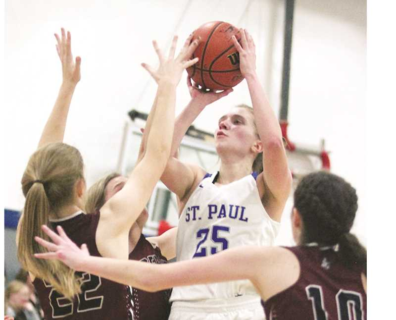 PHIL HAWKINS -- WOODBURN INDEPENDENT - Junior Erin Counts shared league player of the year honors with teammate Isabelle Wyss.