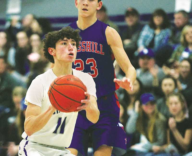 PHIL HAWKINS -- WOODBURN INDEPENDENT - Senior guard Jaidyn Jackson lead the St. Paul boys team in scoring throughout the season.