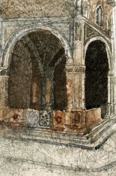 CONTRIBUTED PHOTO: CHERYL BUTTERFIELD - 'Florentine Loggia' is among the watercolor paintings created by Cheryl Butterfield that was inspired by her year living in Italy.