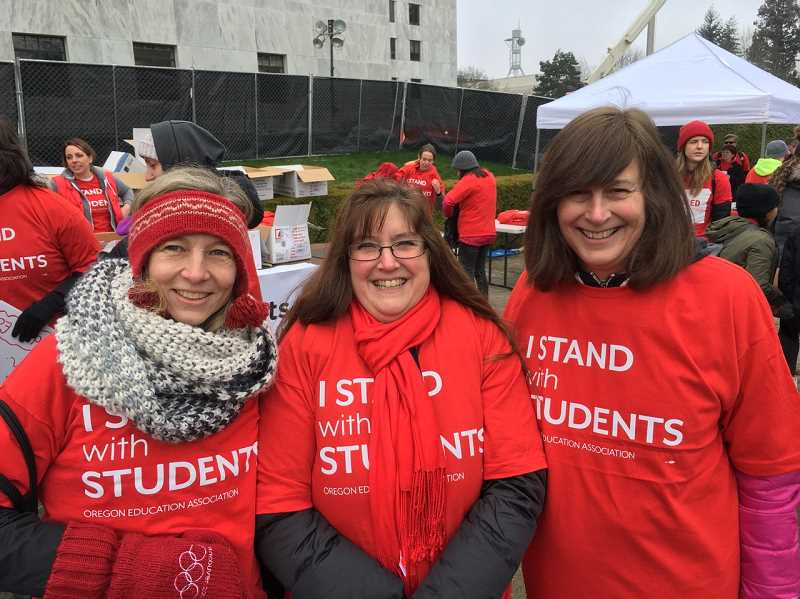 COURTESY OF TIGARD-TUALATIN EDUCATION ASSOCIATION - Teachers representing the Tigard-Tualatin Education Association were among those who rallied in Salem Tuesday.