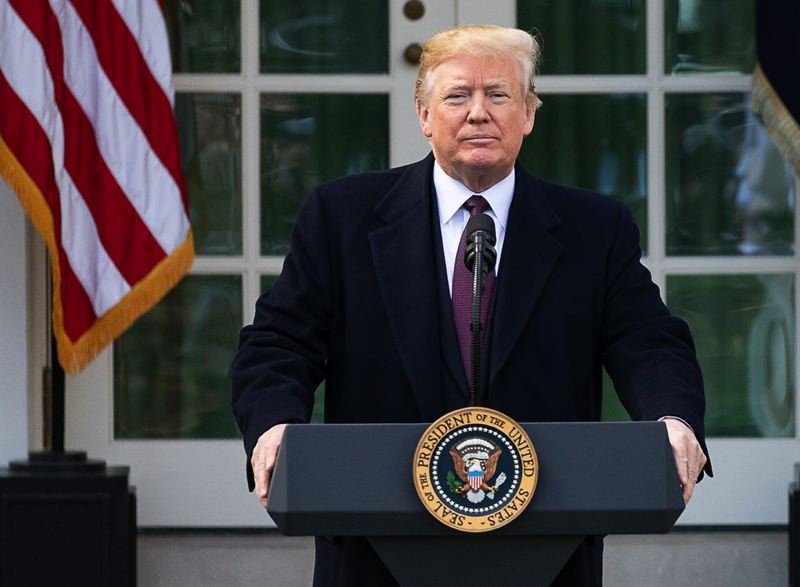 COURTESY PHOTO: THE WHITE HOUSE - Oregon is suing to block the Trump administration's emergency declaration for border security because the state could lose funds for federal projects.