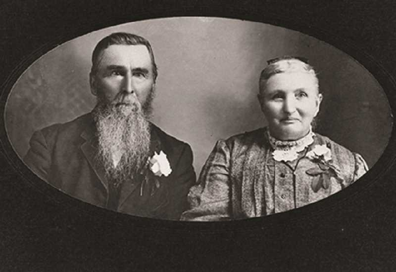 PHOTO FROM THE AUTHOR'S COLLECTION - William D. and Lucina Adams. They traveled the Oregon Trail in 1865; then settled and lived in the Molalla area the rest of their lives.