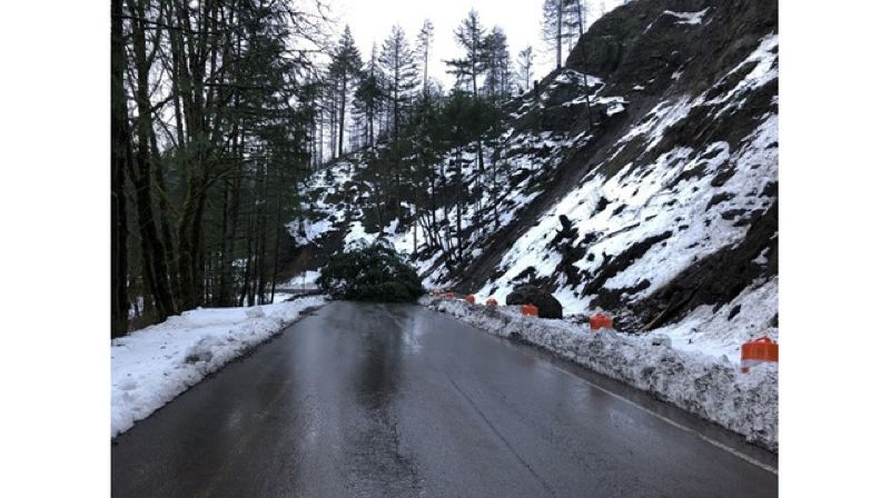 KOIN 6  - A landslide closes exit 41 on I-84 Wednesday, Feb. 20. The exit leads to the Eagle Creek recration area that has been closed since September 2017 when a fire started in the area.