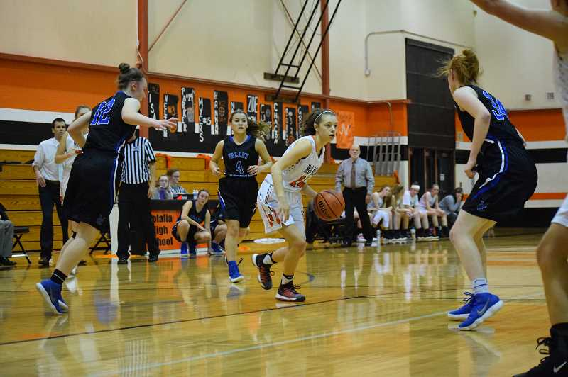 ARCHIVE PHOTO: TANNER RUSS - Molalla's Zoe Wood led the team with 18 points against Corbett.
