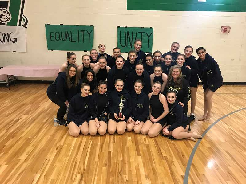 SUBMITTED PHOTO  - The Debs took fourth place at the Parkland High School dance competition Feb. 16.