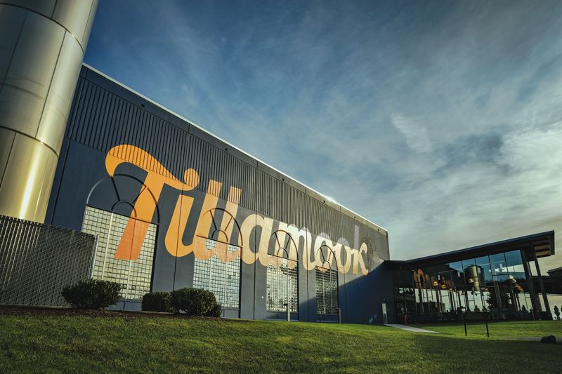 PAMPLIN MEDIA GROUP: KEITH SHEFFIELD - The exterior of Tillamook Creamery and visitor center, which opened last year after a renovation, featrues the new logo font thats part of Tillamook Creamery Associations rebranding campaign.