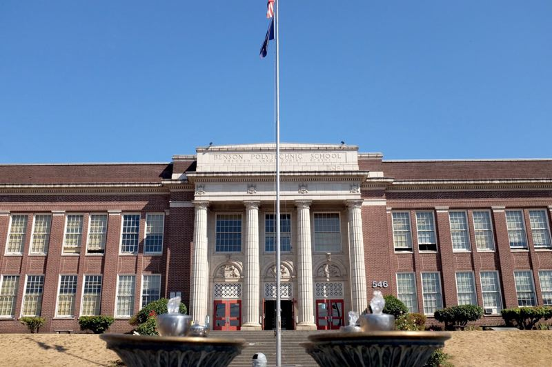 FILE PHOTO - Benson High may get rebuilt with funds from a 2020 bond, along with a separate freestanding building on the site for unrelated programs.
