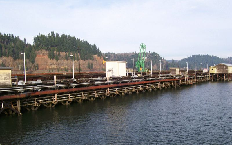 PORT OF COLUMBIA COUNTY PHOTO - A dock at Port Westward allows ships to load and offload materials produced or transported via the industrial park. NEXT Renewable Fuels plans to develop a diesel plant at Port Westward.