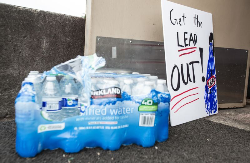PMG FILE PHOTO - Portland schools shut off drinking fountains and offered bottled water three years ago because of a high amount of lead found in school water systems.