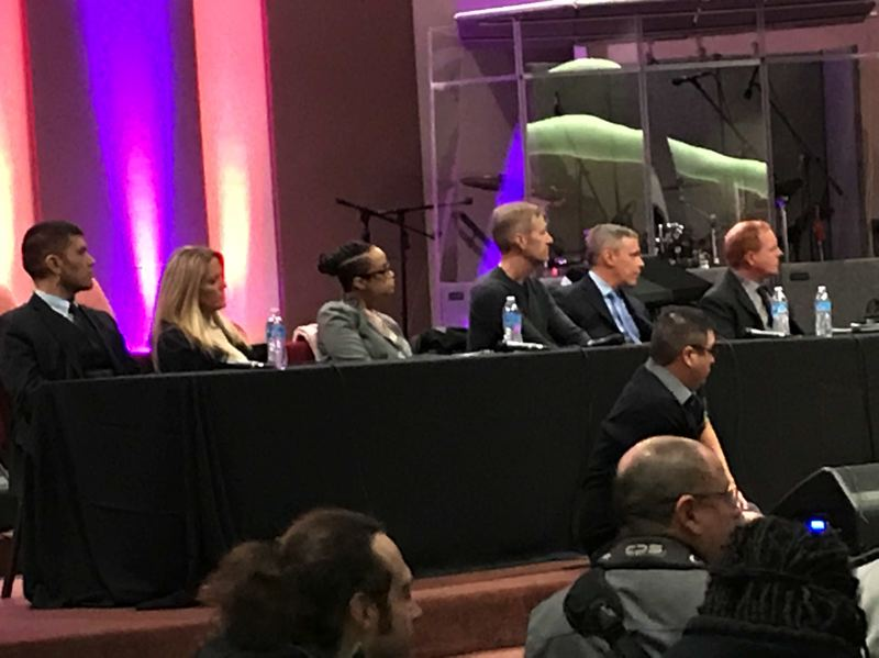 TRIBUNE PHOTO: NICK BUDNICK - Mayor Ted Wheeler and the top leadership of the Portland Police Bureau attended a Feb. 21 listening session organized concerning police crowd control and text messages between a protest liaison cop and a right-wing leader.