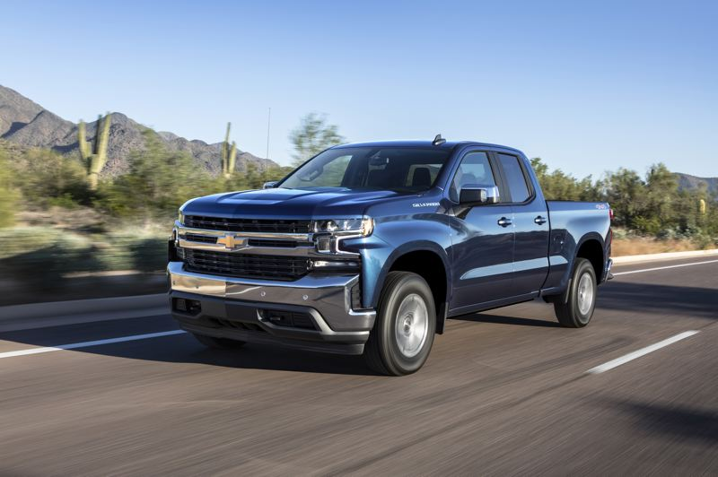 COURTESY CHEVROLET - A 2019 Chevy Silverado with a double cab, four-wheel-drive and the new turbocharged 2.7-liter four cylinder engine.