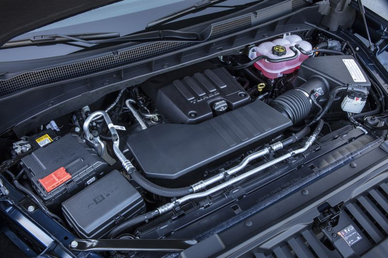COURTESY CHEVROLET - The available turbocharged 2.7-liter four cylinder engine produces an empressive 310 horsepower and 348 foot pounds of torque.