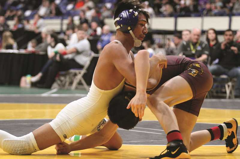 PHIL HAWKINS - Vasquez's victory over Potter came in his second consecutive trip to the finals, after falling in the 5A 113-pound championship match in 2018.