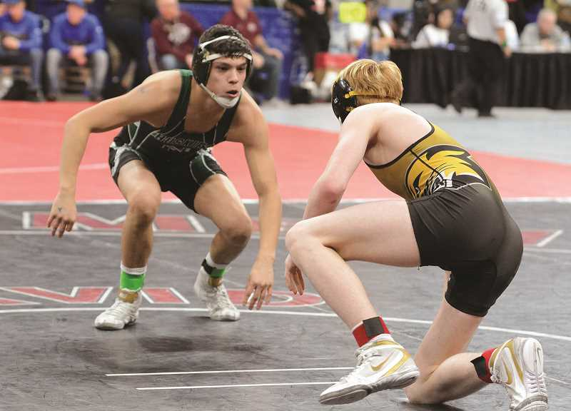 DAVID BALL - North Marion senior Saul Tarula bounced back from his first round loss to Noah Thompson to post a pair of victories on the consolation side of the 4A 145-pound bracket at the 2019 state wrestling championships.