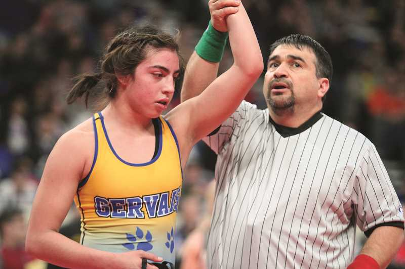 PHIL HAWKINS - Zepeda's victory over Ohlson gives the Gervais sophomore a state title to go along with her third-place medal she earned in the 2018 3A 113-pound boys bracket as a freshman.