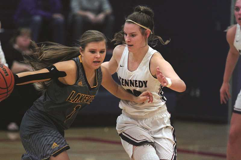 PHIL HAWKINS - Kennedy senior Kalyssa Kleinschmit led the Trojans with 16 points in the team's first-round victory over the Lakeview Honkers on Saturday.