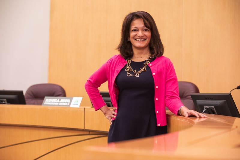 TRIBUNE PHOTO: JONATHAN HOUSE - Susheela Jayapal says she hopes to find new solutions to homelessness as the District 2 Commissioner in Multnomah County.