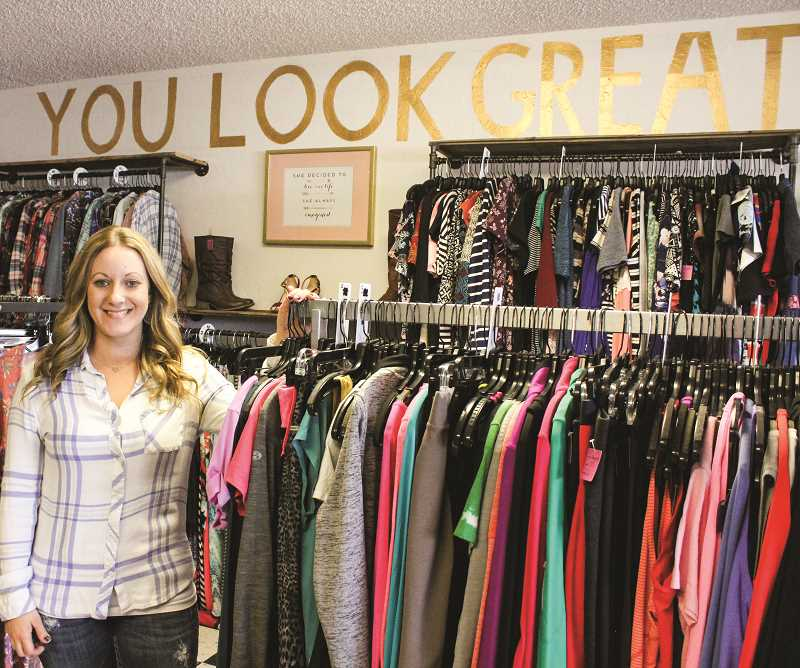 HOLLY SCHOLZ - Shari Hite loves being able to offer affordable fashion to local women at her resale clothing store, The Wild Rose Boutique, located in the heart of Prineville.