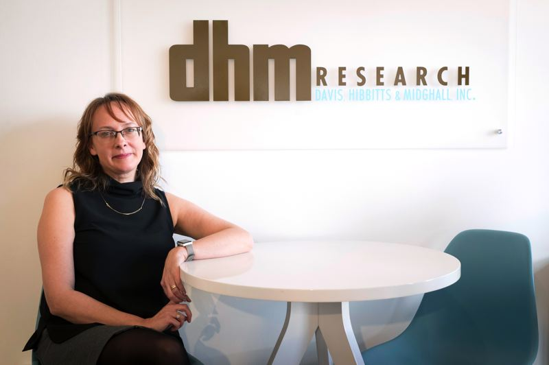 PMG PHOTO: JAIME VALDEZ - DHM was founded in 1977 and is sometimes known as Davis Hibbitts & Midghall. Adam Davis and Su (Midghall) Embree are stepping back from their day-to-day roles at the firm, and will continue to serve as advisors to the leadership team. Tim Hibbitts retired a few years ago. Michelle Neiss now heads the management troika, with Megan Wentworth as Chief Operating Officer and John Horvick as the new Director of Client Relations and Political Director.