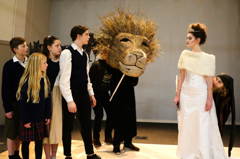 COURTESY PHOTO: EASTSIDE THEATER - The magic of Narnia comes alive with the lion Aslan protrayed by a striking puppet operated by three puppeteers.