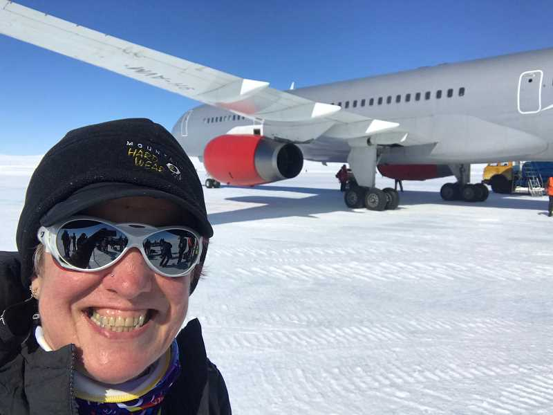 COURTEY PHOTO - Ginny Turner competed in seven half-marathons on seven continents in seven days.