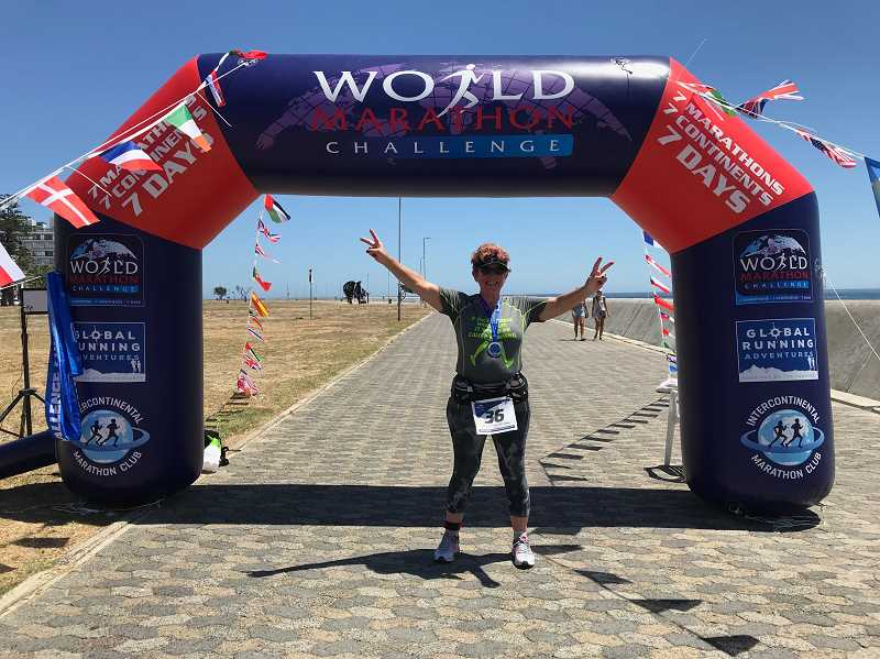 COURTESY PHOTO - Turner has already raced on every contininent twice over prior to the World Marathon Challenge. She's already planning another half-marathon in Madagascar later this year.