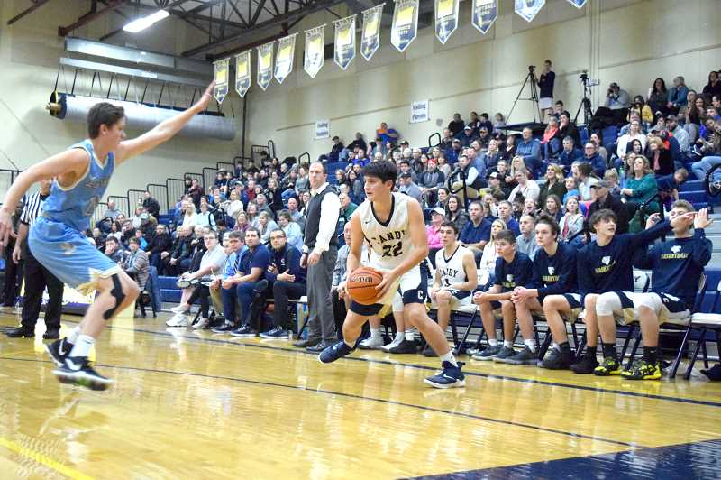 ARCHIVE PHOTO: TANNER RUSS - Canby sophomore Diego Arredondo was the top scorer for the Cougars in the 2018-2019 season.