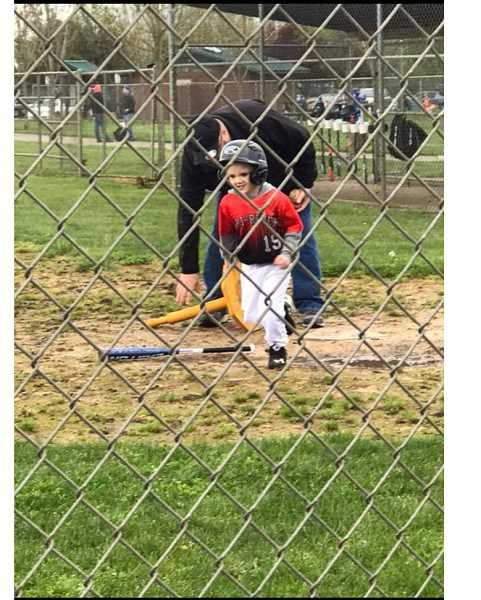 COURTESY PHOTO: TRI RIVER YOUTH BASEBALL - A Tri River Youth player enjoys the first season in 2018.