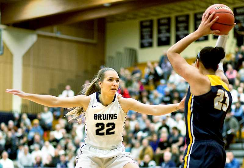 PHOTO COURTESY OF GFU - The George Fox women's basketball team prides itself in defense, which showed throughout its Northwest Conference schedule.