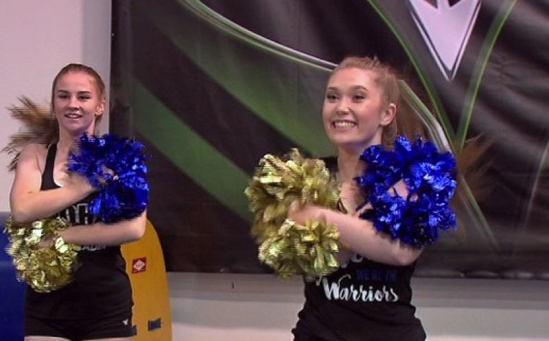 COURTESY PHOTO: KOIN - Some of the Aloha Warriors cheerleaders practicing a routine.