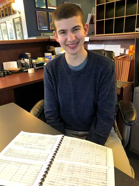 SUBMITTED PHOTO  - Max Ball, a Lakeridge High School junior, will present the world premier of his composition Fugue for Orchestra in Firebird March 3.