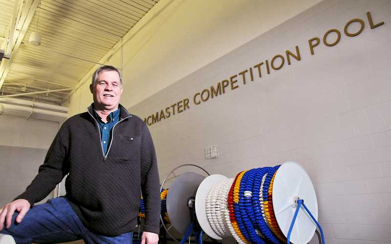 GARY ALLEN - Longtime water polo coach and Chehalem Park and Recreation District facilities manager Jim McMaster was recognized earlier this year when the competition pool at the Chehalem Aquatic Center was named after him.