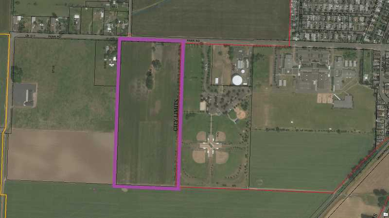 COURTESY OF CITY OF WOODBURN - Woodburn City Council agreed to annex the Lowrie Property, located just west of Centennial Park.
