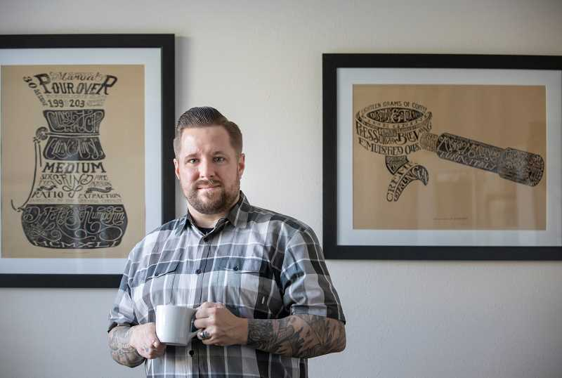 PMG PHOTO: JONATHAN HOUSE - Coffee expert Zach Perkins at his home office in West Linn.