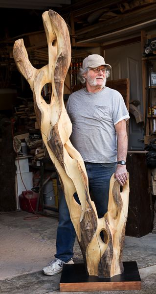 COURTESY PHOTO: OREGON DEPARTMENT OF FORESTRY - Martin Conley creates sculptures from dead trees. His work will be displayed at the Tillamook Forest Center west of Banks from March 1 through May 26.