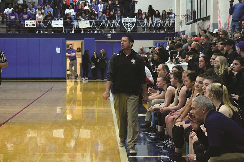 HERALD PHOTO: TANNER RUSS - Canby's head coach Chuck Knight helped guide the team to a strong second half of league, going 6-4 in the teams last 10 games.