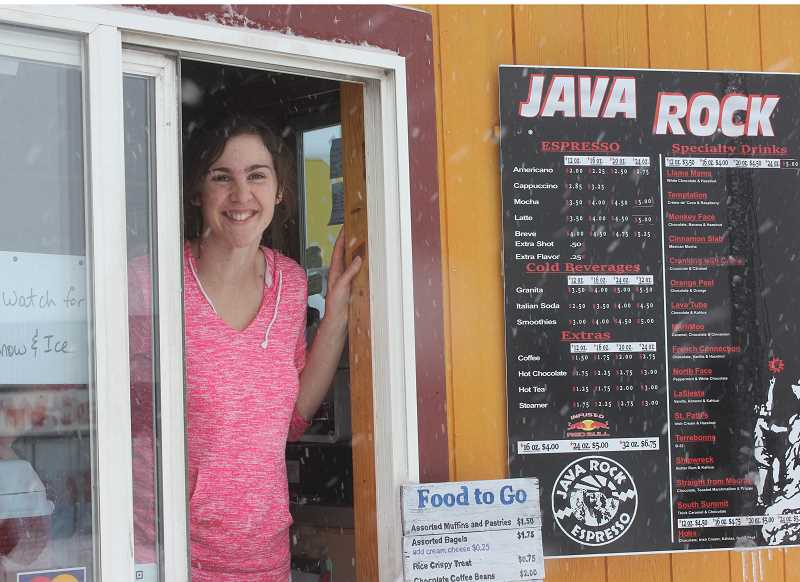 TONY AHERN/MADRAS PIONEER - Cassia Dawn greets customers at Java Rock Espresso, which was purchased by new owners last fall, but still offers the same consistent products that its customers are accustomed to purchasing.