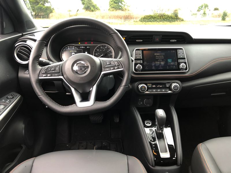 PORTLAND TRIBUNE: JEFF ZURSCHMEIDE - The 2019 Nissan Kicks feels surprisingly large inside, and offers a lot of tech at a low price.