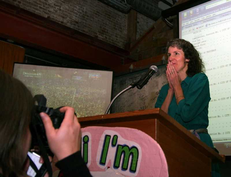 PMG PHOTO - Amanda Fritz first won election to the Portland City Council in November, 2008.