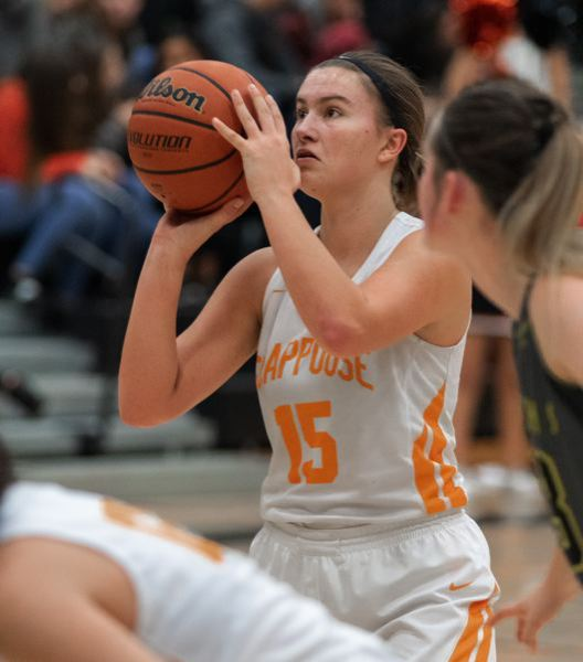 COURTESY: LOREN WOHLGEMUTH - Gaby Dague, a Scappoose junior, was a key player up front in 2018-19.
