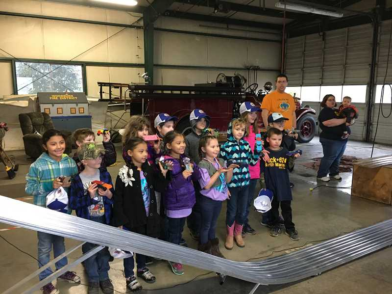 COURTESY OF JAMES AUDRITSH  - North Marion Cub Scout Pack No. 624 pose for a photo  while enjoying a Pinewood Derby race in Broadacres.
