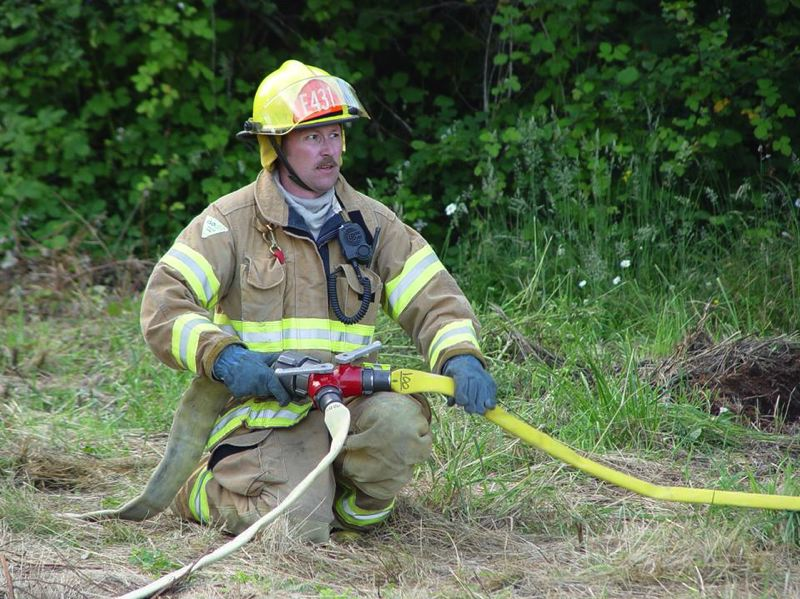 COURTESY PHOTO - Robert Hales, who served Scappoose Fire District as a volunteer firefighter for eight years, died in 2008 after serving a 12-hour shift. His family is now supporting legislation to allow for the names of fallen firefighters to be included on roadside memorials.